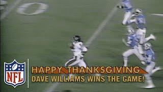Dave Williams Game-Winning Kickoff Return TD in OT! (1980)   Bears vs. Lions   NFL on Thanksgiving