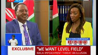 Opposition leader Raila Odinga talks about his achievements while in government