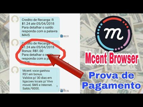 Como GanharCréditos Grátis + Prova de pagamento   - Mcent Browser