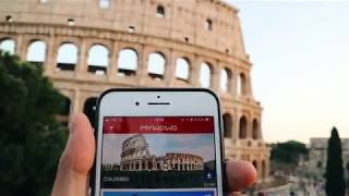 David Pinto Influencer in Rome with MyWoWo Travel App english sub