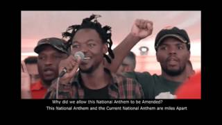 """The National Anthem before it was Amended to """"Uit die blou van what what"""""""