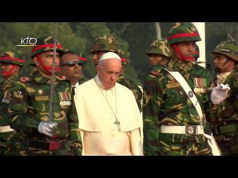 Arrivée du Pape François au Bangladesh