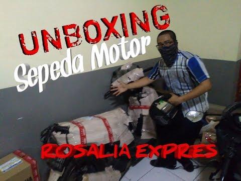 UNBOXING PAKET MOTOR DI P.O ROSALIA EXPRES LANGSUNG !!!