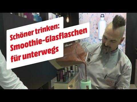 Schöner trinken: Smoothie-Glasflaschen für unterwegs