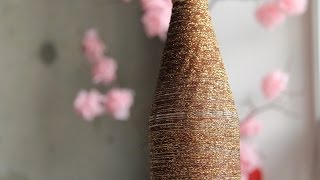 Смотреть онлайн Красивая ваза из обычной бутылки своими руками