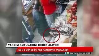 Konya'da yardım kutusu hırsızlığı kamerada!