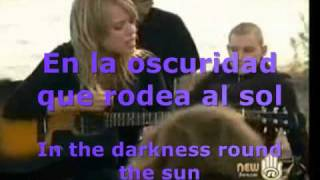 Darkness Round The Sun - Damhnait Doyle and Alexz Johnson (Inglés y Español)
