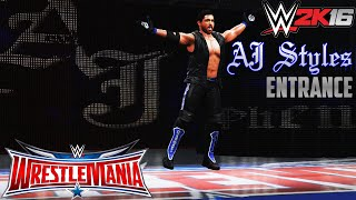 WWE 2K16: AJ Styles Wrestlemania 32 Entrance (PS4)