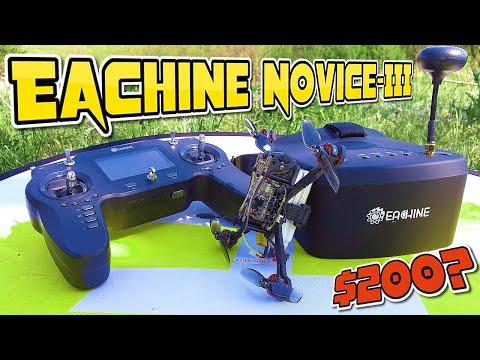 ✅ Комплект для учебы 🅵🅿🆅 Полетам - Eachine Novice-III Дрон + EV 800 FPV Шлем+ ER8 Пульт! 🔥