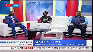 Deputy CEO, FKF, Herbert Mwachiro and Posta rangers midfielder, Jerry Santo on Sports Chat