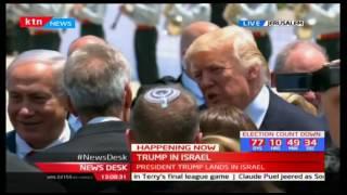 President Trump arrives in Israel ahead of talks