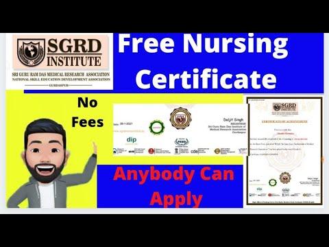 Free Nursing Certificate 2021 । Free certificate in 2 minutues ...