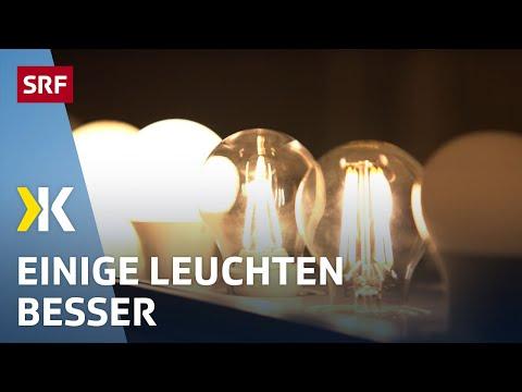 LED-Leuchten im Test: Grosse Unterschiede bei der Lichtqualität   2019   SRF Kassensturz