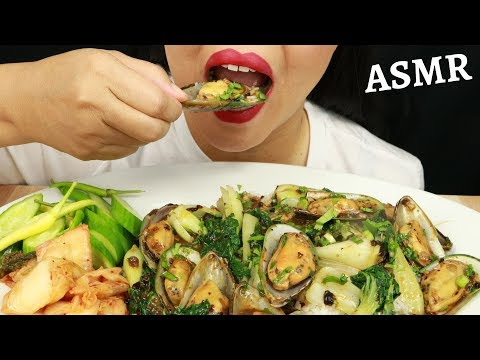 GREEN LIP MUSSELS IN BLACK BEAN SAUCE WITH RICE ~ ASMR (No Talking)