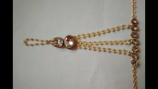 DIY : Designer Ring Bracelet : Full Tutorial : Kundan Ring Bracelet for Women