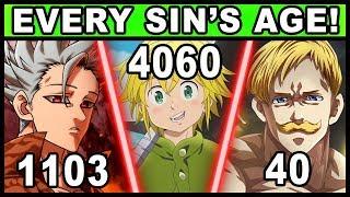 Every Sin's TRUE Age Explained! (Seven Deadly Sins / Nanatsu no Taizai)