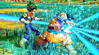 Jump Force - Goku vs Vegeta Gameplay (SSJ & Ultimate)
