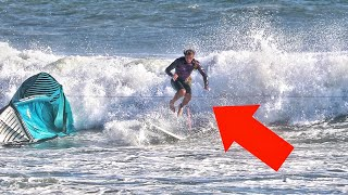 kite surfing idiot nearly cut my feet off thumbnail