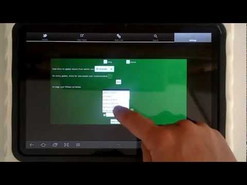 Video of T4T - Twitter for Tablets