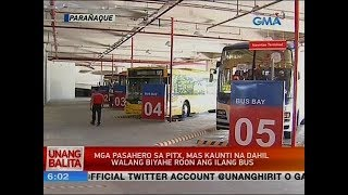 UB: Mga pasahero sa PITX, mas kaunti na dahil walang biyahe roon ang ilang bus