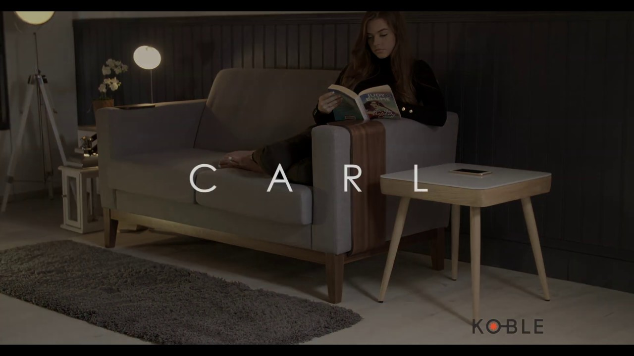 Koble Carl Smart Side Table with Speakers & Wireless Charging