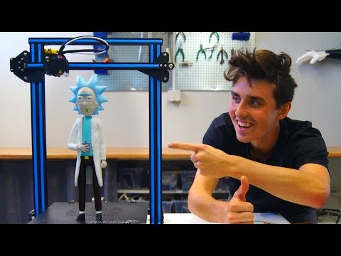 AWESOME 3D Printed Rick Sanchez - Creality CR-10 Print!