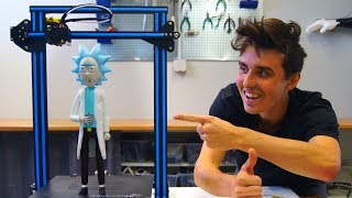 AWESOME 3D Printed Rick Sanchez - Creality CR-10 Print!