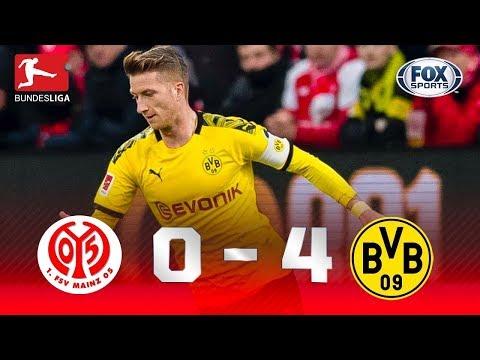 GOLEADA DO DORTMUND! Melhores momentos de Mainz 0 x 4 Borussia Dortmund pela Bundesliga