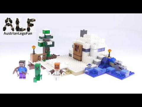 Vidéo LEGO Minecraft 21120 : La cachette dans la neige