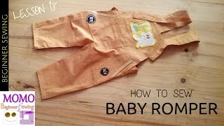 How To Sew Baby Romper - Beginners Sewing Lesson 18