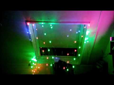banggood LED Net Light 1.5M x 1.5M 100 LEDs Christmas Fairy String Light US Plug 110V - Warm White