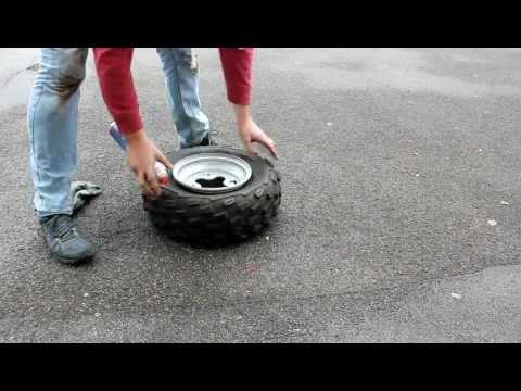 Quad Reifen aufziehen, aufsprengen