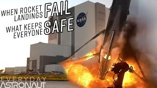 What keeps everyone safe when rockets fail? Why did the failed Falcon 9 rocket land in the ocean?