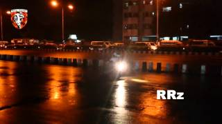 DRAG DRIFT By FZs- ROAD RIDERz, RRz - Yamaha stunt- BANGLADESH- NIGHT + RAIN