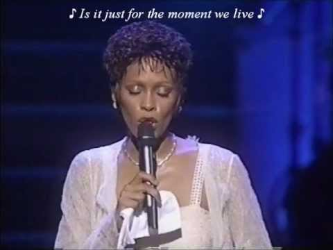 Whitney Houston (LIVE) 'Alfie' w/lyrics
