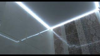 Свет в санузле, потолочный плинтус, пороги. Влог с объекта.