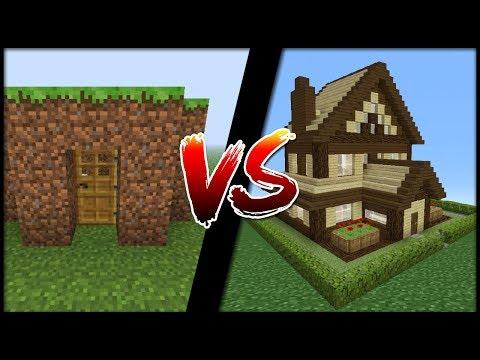 DOM Z HLINY VS. DOM Z DREVA! (Minecraft)