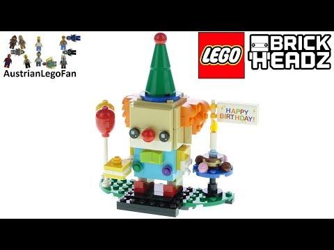 Vidéo LEGO BrickHeadz 40348 : Clown d'anniversaire