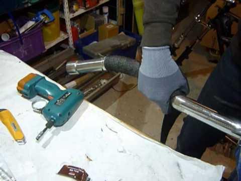 Hitzeschutzband Auspuffband Thermoband um Motorrad Krümmer umwickeln