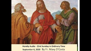 September 6, 2020 - Homily Audio - 23rd Sunday in Ordinary Time - Fr. Maxy D'Costa