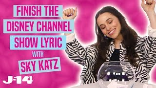 Raven's Home Star Sky Katz Raps Disney Channel Theme Songs | Finish The Lyric