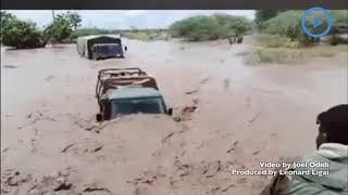 The harsh conditions that KDF soldiers face crossing the flooded