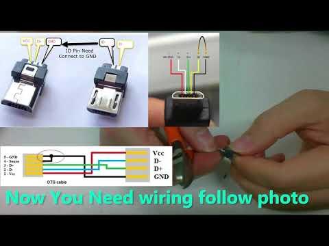 DIY USB OTG micro USB to mini USB for audio DAC
