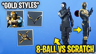 How to Unlock GOLD 8-Ball vs Scratch Edit Styles! (Overtime Challenges) Fortnite