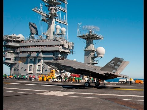 First Days of F-35C Sea Trials Aboard the USS Nimitz