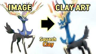 Pokémon Clay Art: Xerneas Fairy-type Legendary Pokémon!!
