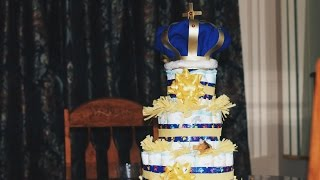 How to make a $16 Diaper Cake