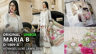 Maria B Collection 2018 - Unbox 9A Voyages Luxe Lawn 2018 - Pakistani Branded Dresses