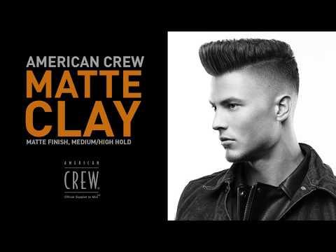 Stilime flokesh mat per meshkuj me American Crew Matte Clay