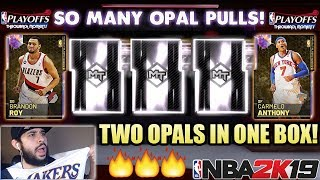WE PULLED TWO GALAXY OPALS IN ONE BOX IN THE GREATEST NBA 2K19 MYTEAM PACK OPENING WITH OPAL CARMELO